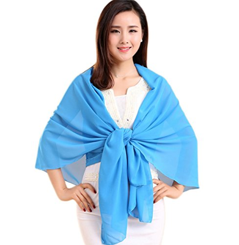 KEWEIT Pañuelo de seda para mujer, ligero, de seda, Color: 4, Talla única