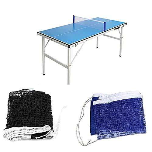 Gfdg Tenis de Mesa Red, 2 Piezas Redes Portátiles de Ping-Pong,Red para Mesa de Ping-Pong,Red de Ping Pong Plegable, Adecuada para Entrenamiento de Tenis de Mesa, Interior,Aire Libre, 180 * 15 CM