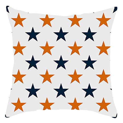 Iusun Fall Halloween Colorful Pillow Covers 17.72 x 17.72 Inches Square Waist Throw Case Autumn Harvest Season Decor Sofa Home Decor Cushion Covers (D)
