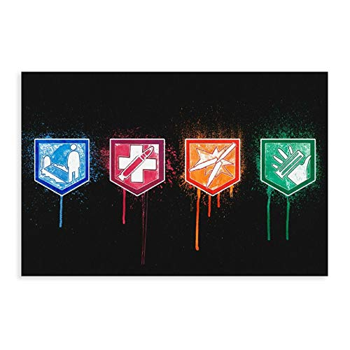 Póster de juego Call of Duty Cod Zombies Perks Logos Vintage Art Poster Canvas Poster Wall Art Decor Cuadro Cuadro Cuadro Cuadro para Sala Decoración Dormitorio Decoración 30×45cm