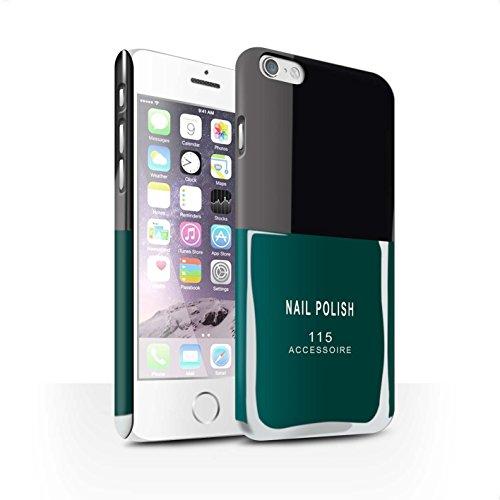 Telefoon Matte Case voor Apple iPhone 6 Nagellak/Make Up Groen Ontwerp Matt Harde Snap On Cover