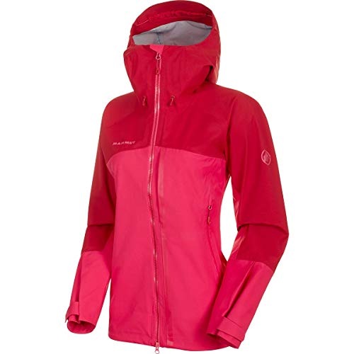 Mammut Damen Masao Hooded Hardshell-Jacke mit Kapuze, Dragon Fruit-Scooter, L