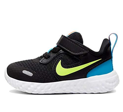 Nike Kids Revolution 5 - Zapatillas de correr con velcro para niños