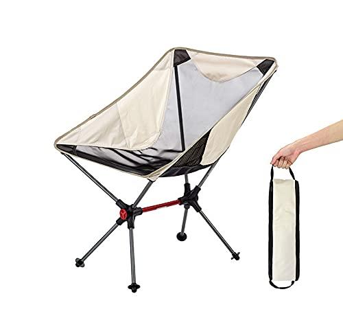 HOLITU Silla de Camping Plegable,sillas de Playa compactas ultraligeras de Respaldo Alto portátiles con Bolsa de Transporte - para Viajes al Aire Libre Picnic Pesca Senderismo Barbacoa,B