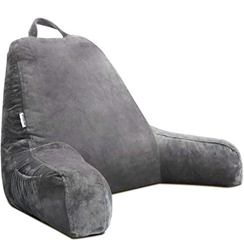 mittaGonG Backrest Reading Husband Pillow with Arms And Removable Cover