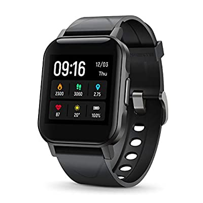 "SoundPEATS Smart Watch Fitness Tracker with All Day Heart Rate Monitor Sleep Quality Tracker IP68 Waterproof 1.4"" Large Touch Screen Call & Message Reminder 12 Sports Modes for iPhone Android Phones"