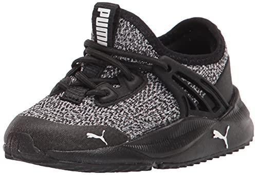 PUMA Pacer Future Slip On Sneakers Black White, 1.5 US Unisex Little Kid