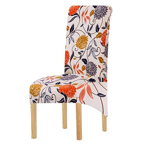 SYJ - Fundas elásticas de Tela con Estampado XL para sillas de Comedor, 2/4/6 Piezas, Fundas elásticas Grandes para sillas para Comedor, Bodas, Banquetes, Fiestas, decoración (Color-20,4 Pack)