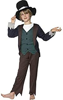 Boys Victorian Peasant Oliver Twist Dickens Kids Book Week Fancy Dress Costume