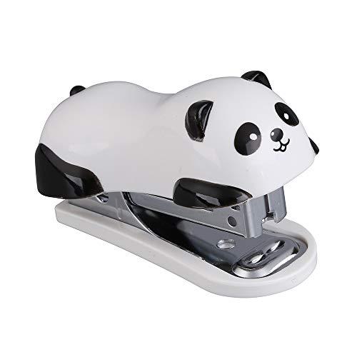 Kleines Heftgerät in Panda-Optik für Büro oder Zuhause