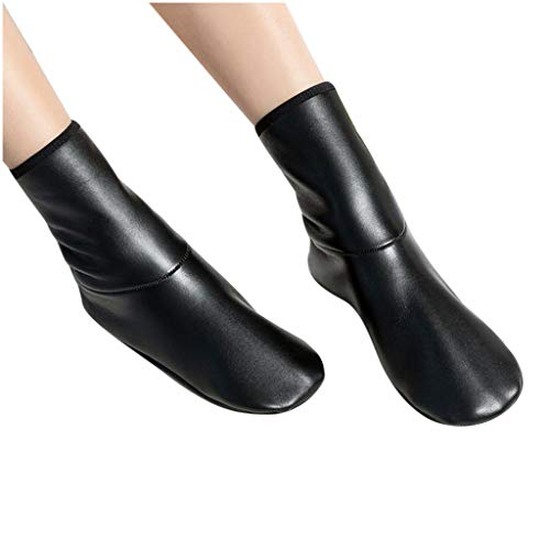 Unsex Plush Thicken Floor Socks Soft Leather Waterproof Winter Casual Home Warm Snow Socks (34~37)