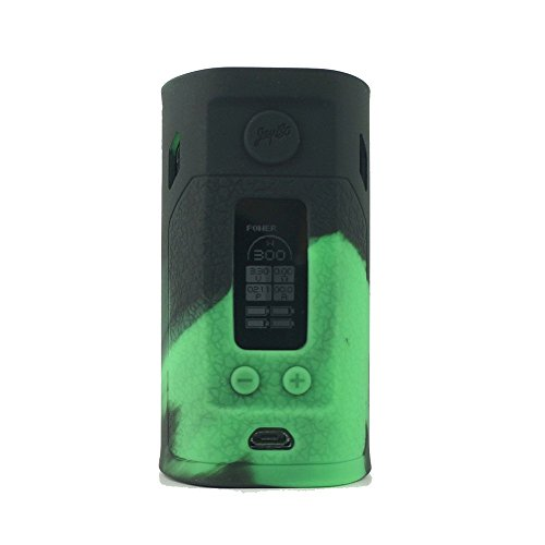 ModShield for Wismec Reuleaux RX300 TC 300W Silicone Case ByJojo Sleeve Skin Wrap Cover (Green/Black)