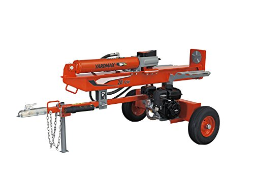 Best Prices! YARDMAX YU2866 28 Ton Full Beam Gas Log Splitter, 4-Way Wedge, Briggs & Stratton, CR950...