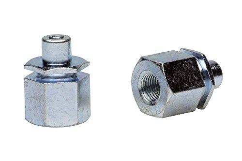 FOLLOW ME! Adapter Followme 3/8 X 26g, 9, 5mm Vollachse O. Riemen 2.zugf Adapter, Silber, 3/8 x 26G, 60651002