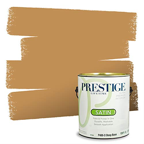 Prestige Paints Interior Paint and Primer In One, 1-Gallon, Satin, Comparable Match of Sherwin Williams* Bosc Pear*