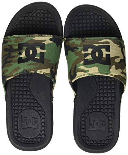 DC Shoes Bolsa-Sandalen für Herren, Chanclas Hombre, Black Camo, 46 EU