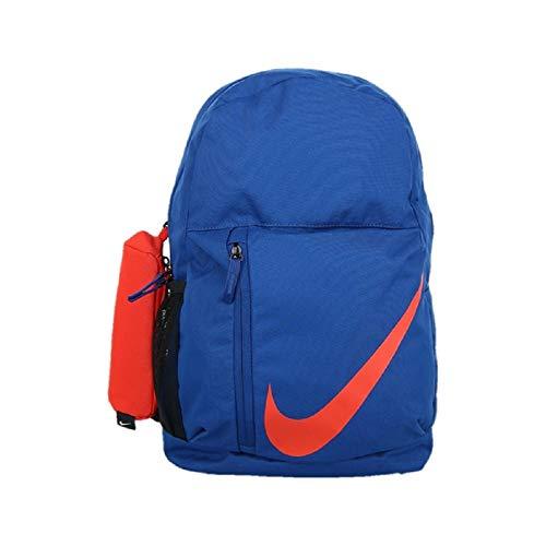 Nike Elemental Mochila 22L Mochila Escolar Gimnasio Bolsa Deportes Mujer Niña Unisex Azul Naranja
