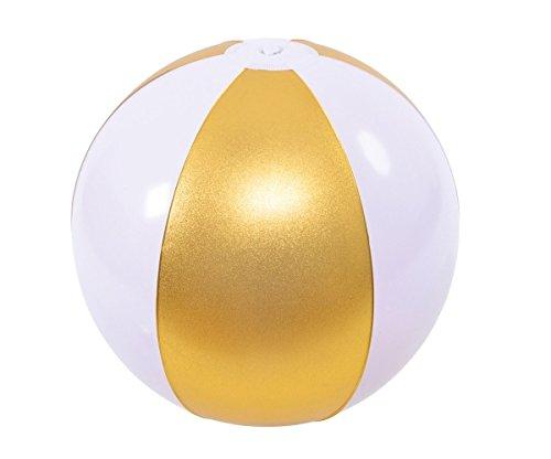 HappyPeople 159987 Wasserball, aufgebl 27 cm,unaufgebl. Circa 40 cm, Gold, 3 Panele