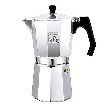 Cecotec cafetera Italiana MokClassic 900 Shiny. Fabricada en Aluminio Fundido, Apta para Diferentes Tipos de Cocina, para 9 Tazas de café
