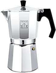 Cecotec cafetera Italiana Mimoka 900 Shiny. Fabricada en Aluminio Fundido, Apta para Todo Tipo de cocinas, para 9 Tazas de café