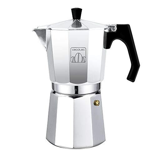 Cecotec cafetera Italiana MokClassic 300 Shiny. Fabricada en Aluminio Fundido, Apta para Diferentes Tipos de Cocina, para 3 Tazas de café