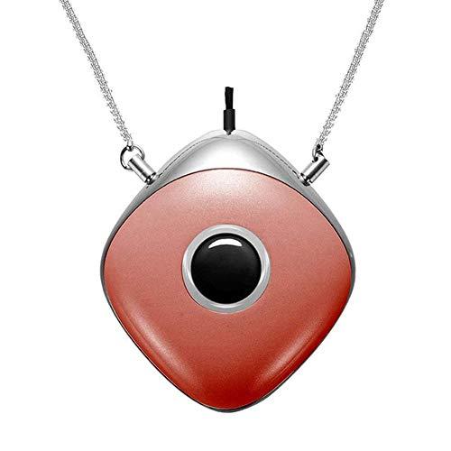 De nieuwe mini-anion-luchtreiniger, draagbare draagbare luchtreiniger in de nek, draagbare zuurstofbar voor thuisauto's, draagbare luchtreiniger met gezuiverde lucht,Red