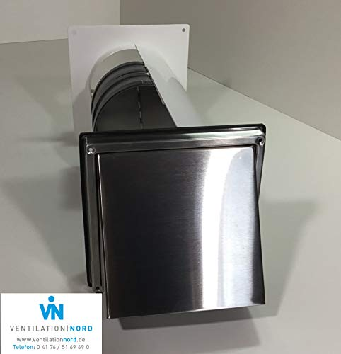 Mauerkasten Dunstabzug Edelstahl 150mm Blower Door Test Zertifikat VNESM150WSHE