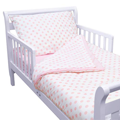 American Baby Company 100% Cotton Percale 4-piece Toddler Bed Set, Pink by American Baby Company