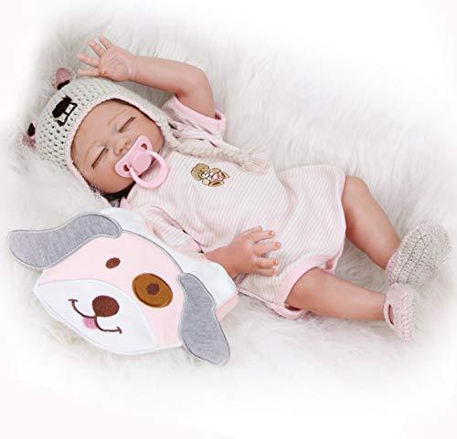 ZIYIUI 20 \'\'Realista Reborn Bebé Muñecas bebé Reborn niña Cuerpo Silicona Renacer Recién Nacido Hecho a Mano Dormido Niña Regalo de cumpleaños Juguetes para Mayores de 3 años