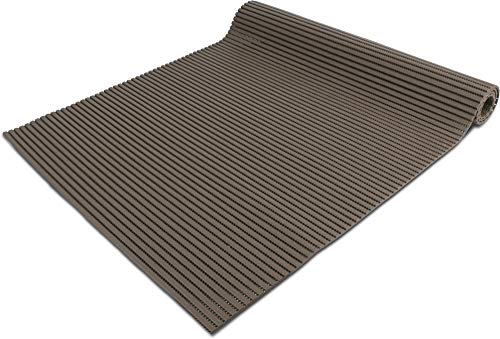 normani 65 oder 130 cm breiter Badvorleger/rutschfeste Matte/Bodenbelag aus PVC Weichschaum,wasserabweisend und rutschhemmend für Bad, Dusche oder Küche Farbe Dunkelbraun Größe 65 cm x 60 cm