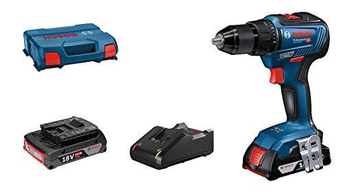 Bosch Professional Akkuschrauber GSR 18V-55 (2x 2,0 Ah Akku, 18 Volt System, max. Drehmoment: 55 Nm, in L-Case)