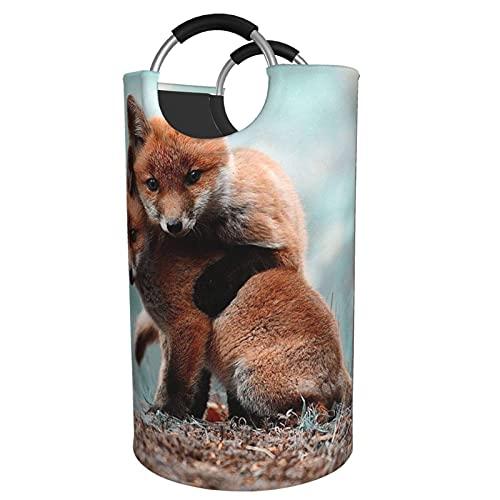 MNXOIA Cesto de lavandería Abrazo Animal Cesta de lavandería Grande Tela Oxford Duradera Contenedor de Lavado Plegable portátil 82L