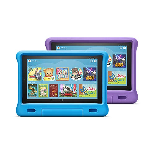 "Fire HD 10 Kids Edition Tablet 2-Pack, 10"" HD Display, 32 GB, Kid-Proof Case - Blue/Purple"