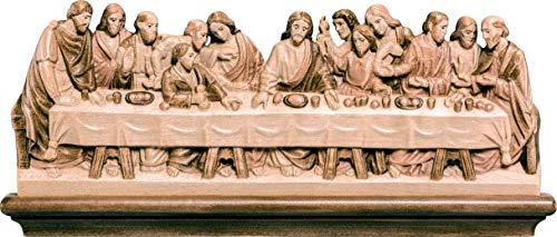 Ultima Cena Style Leonardo de Vinci, Bassine en bois, 3 tons de marron, Largeur : 27 cm - Demetz Deur