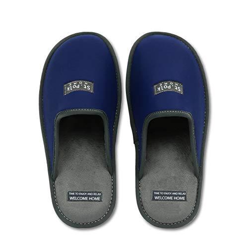 Zapatillas de Estar por casa Hombre/Mujer. Slippers para Verano e Invierno/Pantuflas cómodas, Resistentes, Transpirables y de Interior Suave. Suela de Goma Antideslizante (43 EU, Azul)