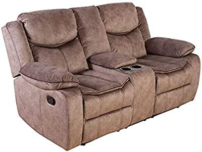 Amazon.com: Estándar muebles bankston Loveseat, Tela, Marrón ...