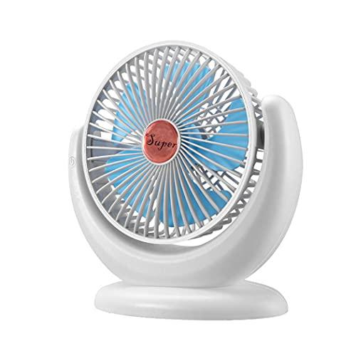 CLCL Ventilador USB, Ventiladores de Sobremensa Ventilador Silencioso y gGratorio, Pequeño Ventilador de Escritorio con 3 Niveles de Velocidad, Adecuado para Oficina, Familia, Viajes