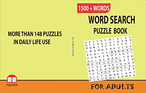 WORD SEARCH PUZZLE BOOK FOR ADULTS: INCREASE THE STRENGTH OF YOUR BRAIN (English Edition)