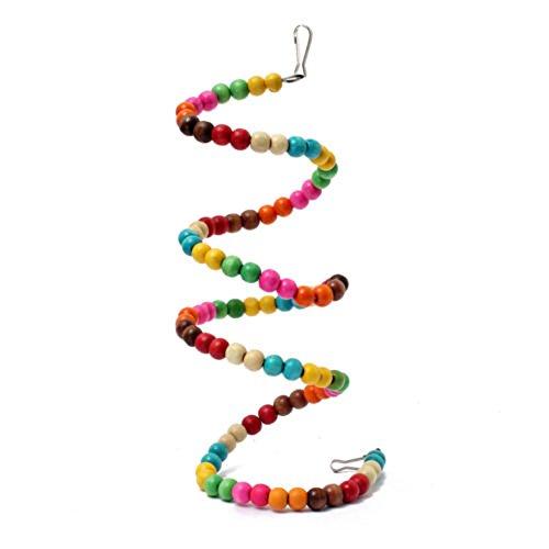 Demiawaking-Spirale en perles colorées pour perroquet