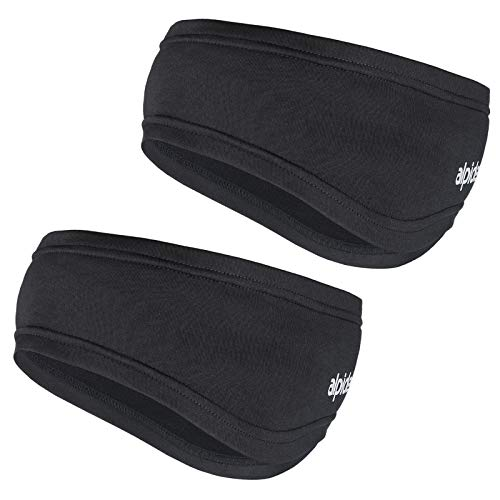 ALPIDEX Banda Cabeza Deporte Running 2 Piezas Caletador Orejas Hombre Mujer Headband, Color:Black