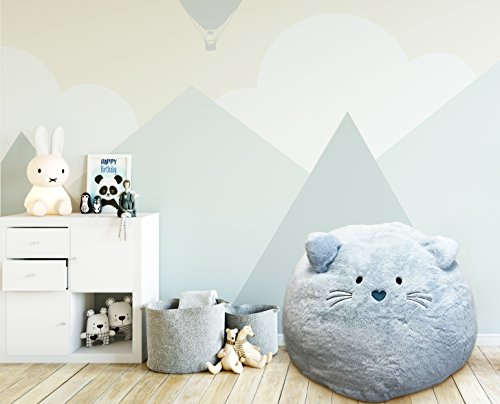 Beanbag For Kids: Soft And Comfortable Stuffed Bean Bag Chair For The Nursery, Cute Animal Design For Boys And Girls, Lux Plush Fabric, For Children Of All Ages 30'' x 30'' x 20'' (Kitty)