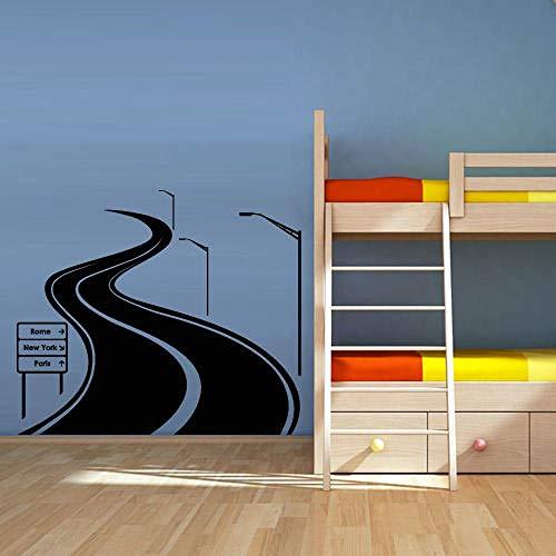 Modische abnehmbare Wandtattoo Straßenverkehrsschild Kinderzimmer Geschenk für Kinder Wandtattoo Kleber Wandtattoo Wandtattoo 30cmx62cm