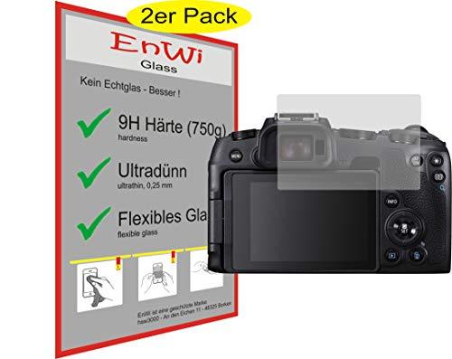 EnWi | 2X Panzer-Glas-Folie 9H Bildschirm-Schutz-Folie für Canon EOS RP