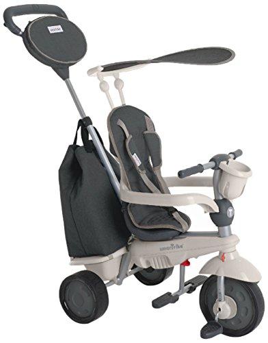 smarTrike 195-0100 - Voyage 4 in1 Dreirad für Kinder ab 10 Monaten, Grau
