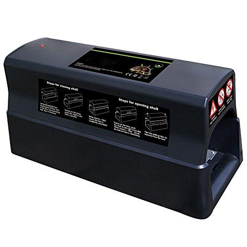 Power-Preise24 Trampa eléctrica para ratas - Trampa eléctrica que se puede conectar...