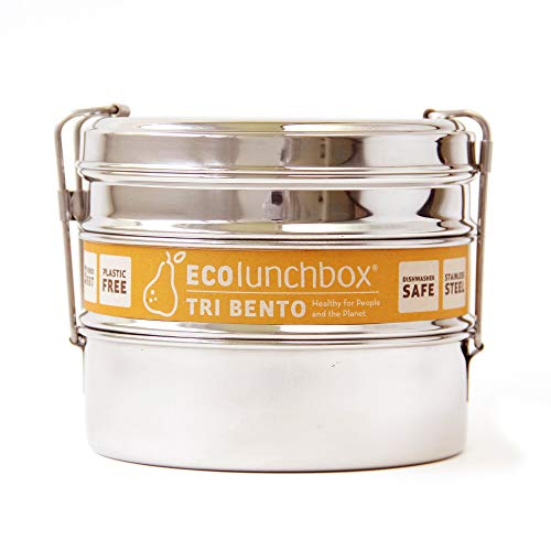 Ecolunchbox 3-in-1 Stainless Steel Bento Bowl, Tri Bento