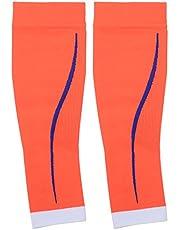 Keenso Manga de compresión para pantorrillas, 1 par Soporte de compresión para pantorrillas Soporte para pantorrillas Mangas para piernas Calcetines Medias Deportivas de protección