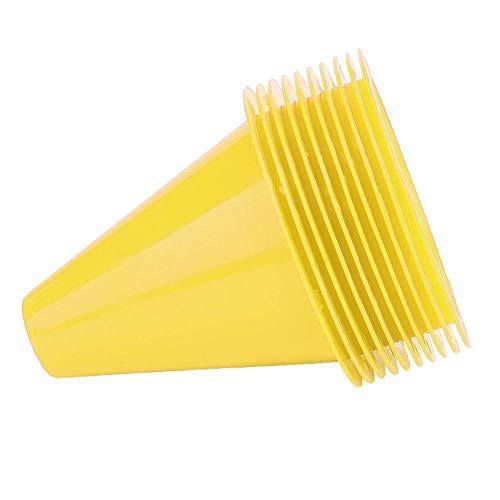 Fußball-Kegel - Fußball-Trainings-Kegel-Fußball-Sperren-Plastikmarkierungs-Halter-Zusatz 10pcs (Farbe : Yellow)