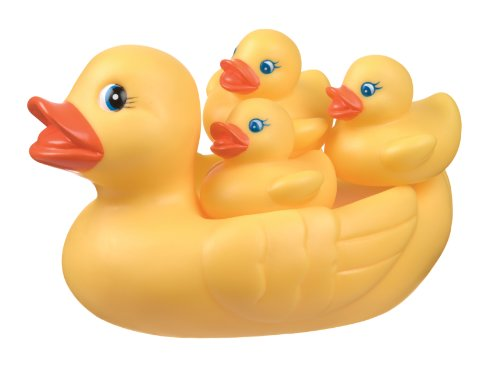 Playgro- Bath Duckie Family Patito Alfombras de Juego y gimnasios, Color Amarillo (0170338)