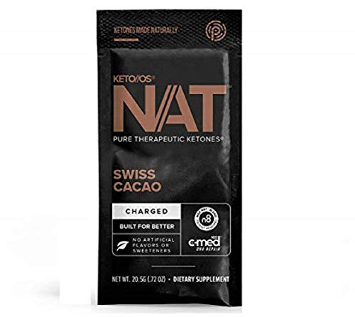 Pruvit Keto//OS NAT Charged, Swiss Cacao, Fierce Focus, Favorable Fat Loss, Rapid Repair C-Med 100, Better bioavailability Ketones for Fat Loss (20 Sachets)